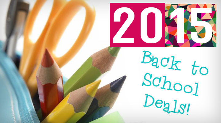 BACK-TO-SCHOOL 2015 - Deals and discounts